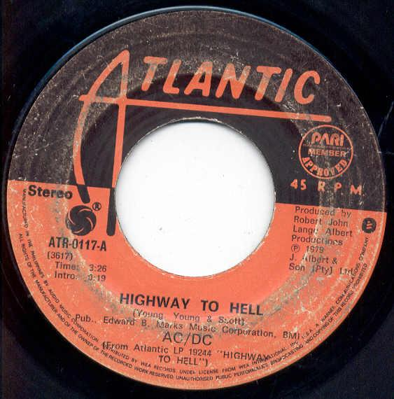 images of Highway to hell(philippines 1979 7 on atlantic label) ATLANTIC