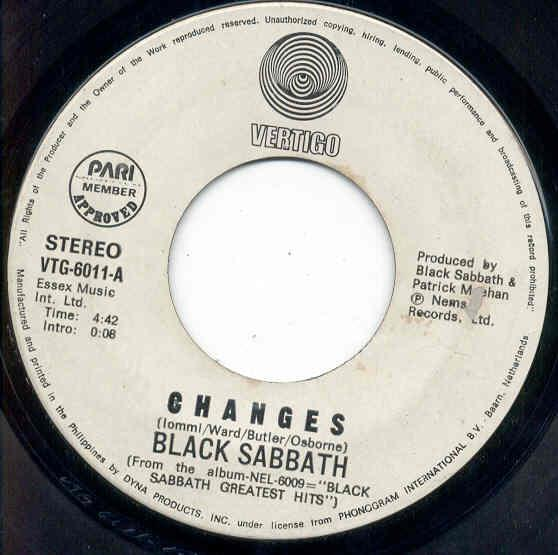 images of Changes(philippines 1977 2-trk w label 7 promo on vertigo label) VERTIGO