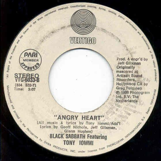 images of Angry heart(philippines 1986 w label 2-trk 7 promo on vertigo lbl) VERTIGO