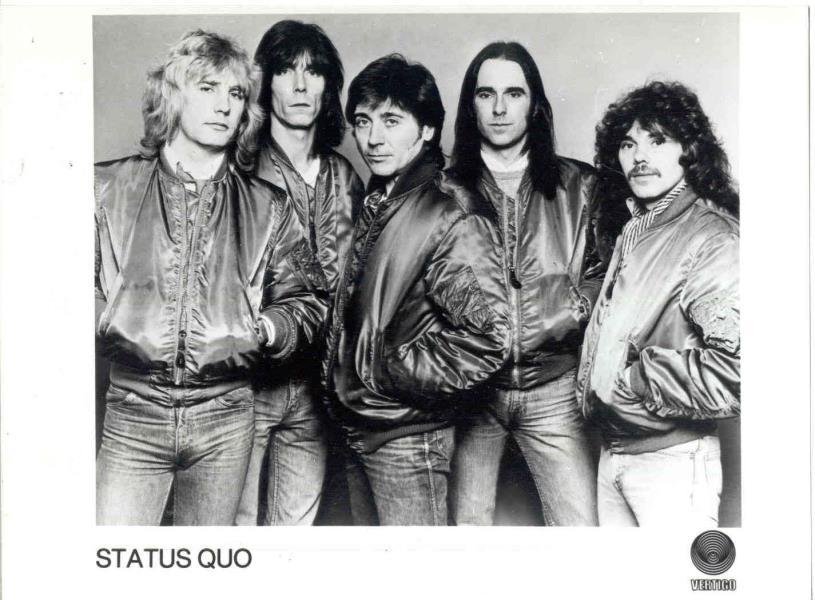 images of Status quo(uk 80s original vertigo promo press kit photo) VERTIGO