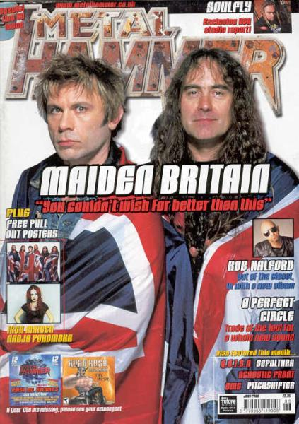 Iron Maiden Metal Hammer(June 2000)(Uk 2000 Iron Maiden Front Cover Magazine) MEMORABILI