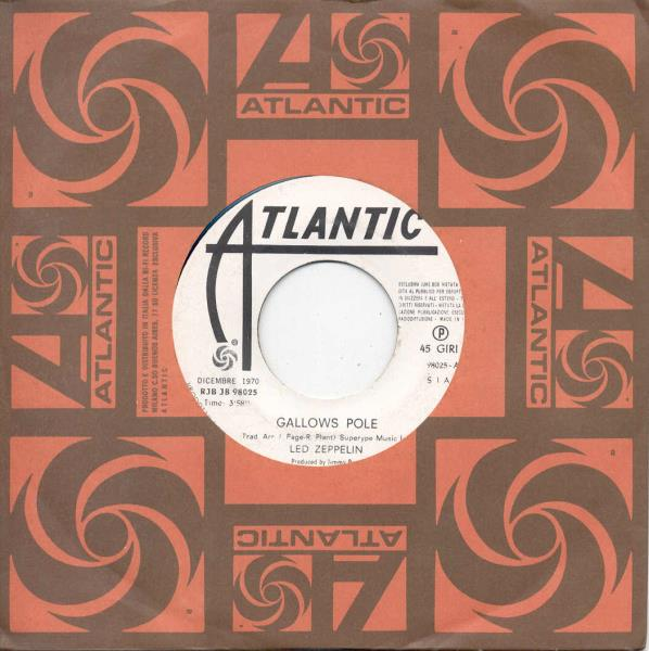 images of Gallows pole(italian 1970 1-trk w label 7 promo single atlantic slv) ATLANTIC