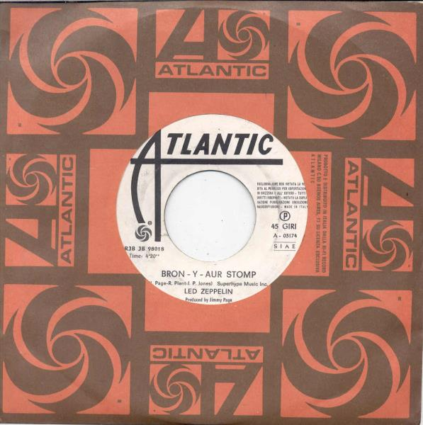 images of Bron-y-aur stomp(italian 1970 w label 2-trk 7 promo single atlantic slv) ATLANTIC