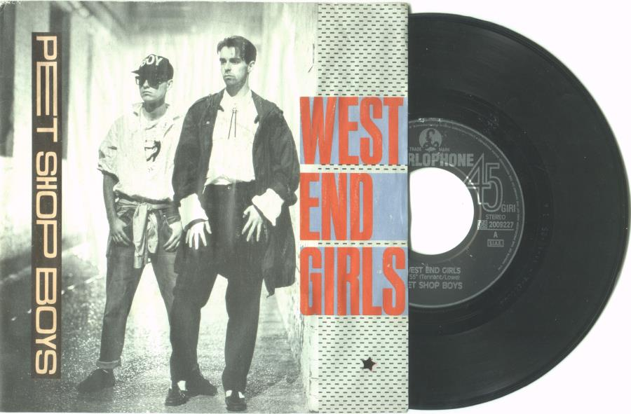 Pet Shop Boys West+End+Girls(Italian+1985+2-Trk+7''+Single+Full+Ps) 45:PICSLEEVE