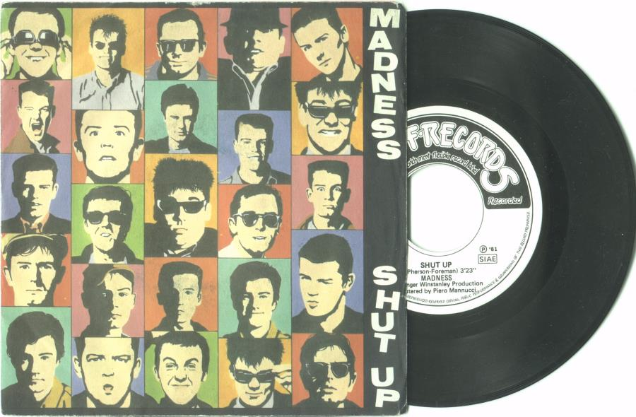 Madness Shut Up(Italian 1981 2-Trk 7'' Single Full Ps) 45:PICSLEEVE