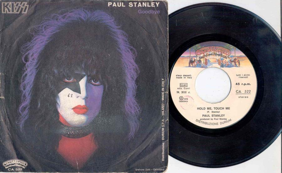 Kiss Hold Me Touch Me(Paul Stanley)(Italian 1978 2-Trk 7'' Single Full Ps) 45:PICSLEEVE