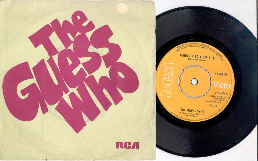 Guess Who Hang On To Your Life(India 1971 2-Trk 7'' Single Unique Titles Ps) 45:PICSLEEVE