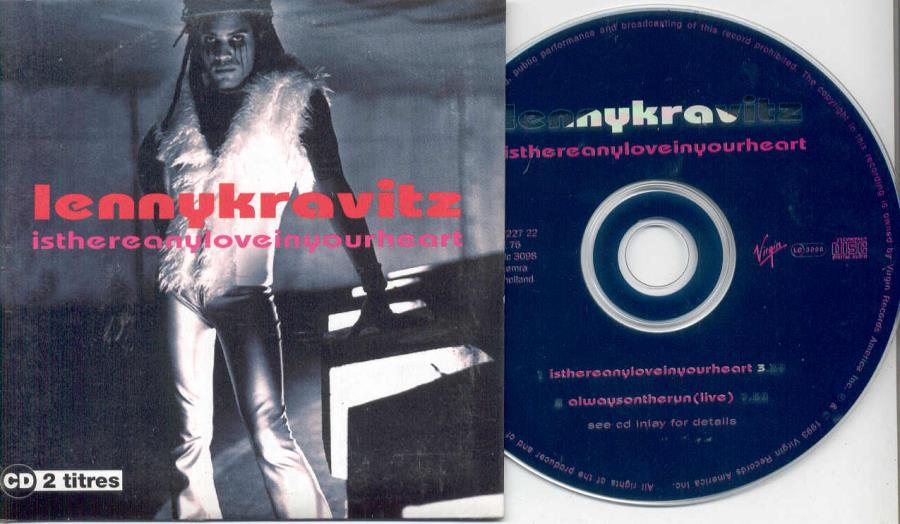 Kravitz,Lenny Is+There+Any+Love+In+Your+Heart(Holland+1993+2-Trk+Cd+Unique+Card+Ps) CD:SINGLE