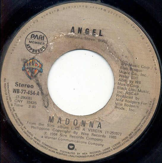 Madonna Angel(Philippines+1984+2-Trk+7''+Single+On+Wb+Lbl) 7''