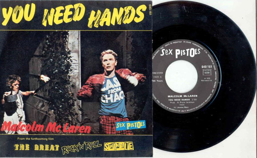 Sex Pistols You Need Hands(French 1979 2-Trk 7'' Single Unique Ps) 45:PICSLEEVE