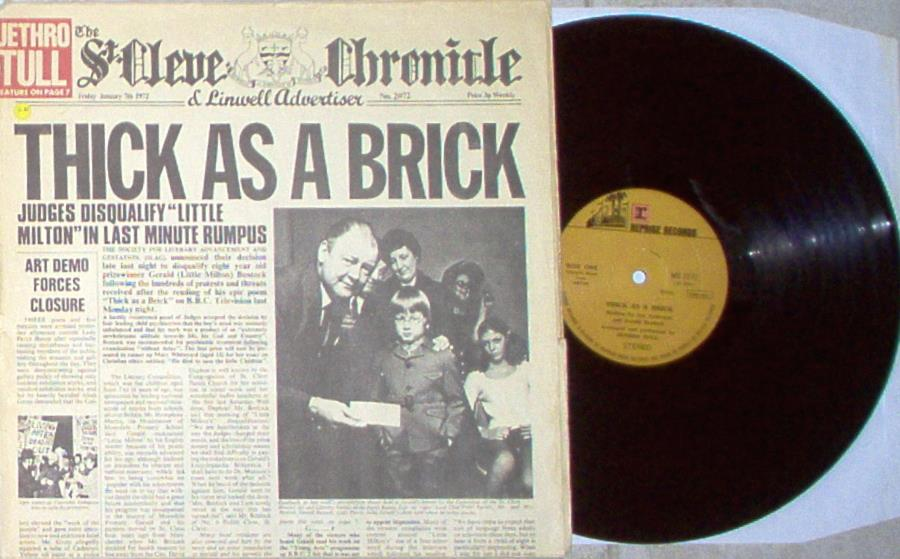Jethro Tull Thick+As+A+Brick(Turkish+1972+Lp+On+Reprise+Lbl+Full+'Newspaper'+Ps) LP