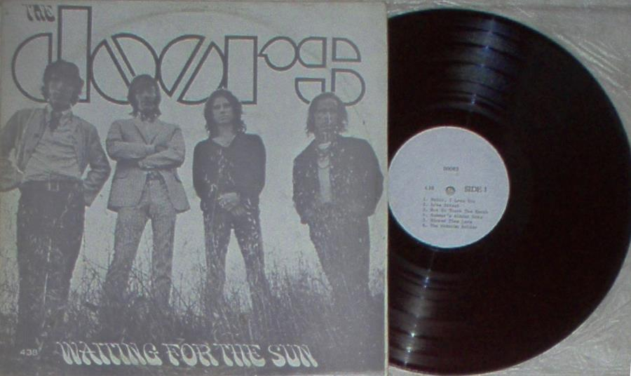 Doors Waiting+For+The+Sun(North+Korea+70s+12-Trk+Lp+Unique+Monocromatic+Grey+Ps) LP