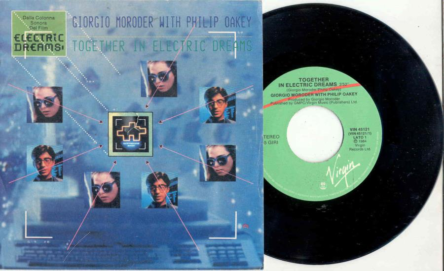 Moroder,Giorgio Together In Electric Dreams(Italian 1984 Ost 2-Trk 7'' Full Ps) 45:PICSLEEVE