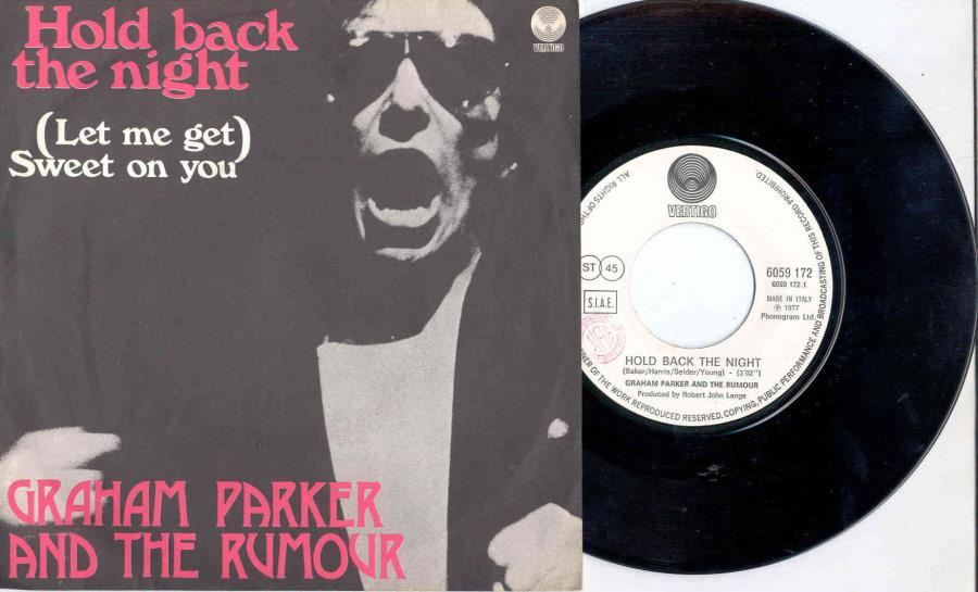 images of Hold back the night(italian 1977 2-trk 7 single on vertigo lbl unique ps) VERTIGO