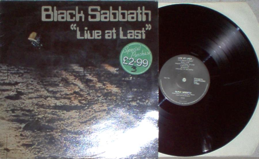 Black Sabbath Live+At+Last(Uk+1980+9-Trk+Lp+On+Nems+Lbl+Full+Ps) LP