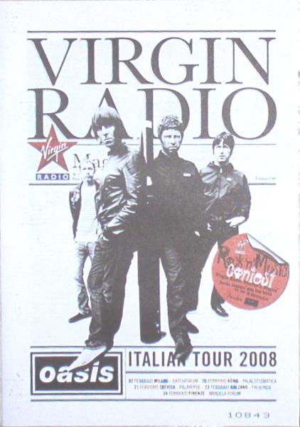 Oasis Virgin Radio Magazine(Feb. 2008)(Italian 2008 Full Oasis 'Italian Tour 2008' 20 MEMORABILI