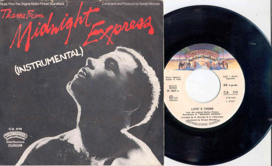 Moroder,Giorgio Midnight Express(Italian 1978 'Ost' 2-Trk 7'' Full Ps) 45:PICSLEEVE
