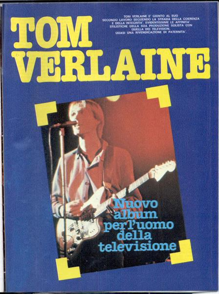Television / Tom Verlaine Ciao+2001(31.01.1982)(Italian+1982+Music+Magazine) MEMORABILI