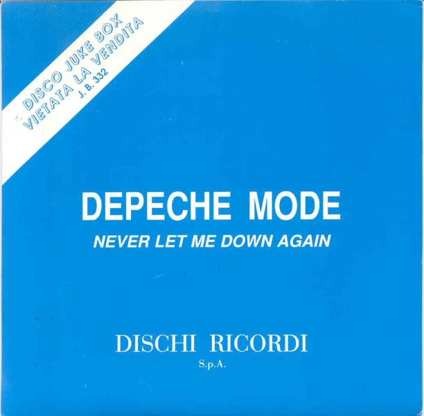 Depeche Mode Never Let Me Down Again(Italian 1987 1-Trk W/Label Promo Dj 7'' Unique Ps) 45:PICSLEEVE