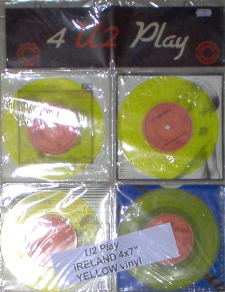U2 U2 Play(Ireland 1982 Ltd 4 X 7'' Yellow Vinyl Set In Pvc Display Wallett) 45:PICSLEEVE