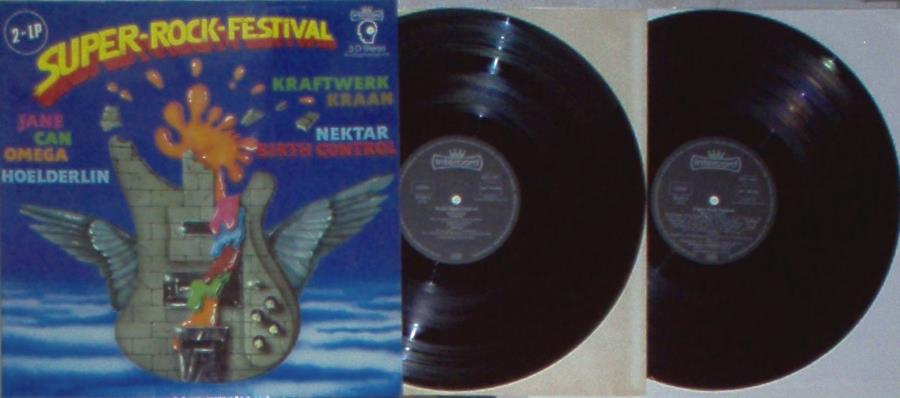 Hoelderlin Super-Rock-Festival(German 1977 V/A 2lp Set Full Gf Ps) LP