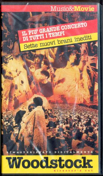 Jefferson Airplane Woodstock(Italian 1994 Promo Vhs Format Film Unique Ps) VIDEO:PAL(EUR)