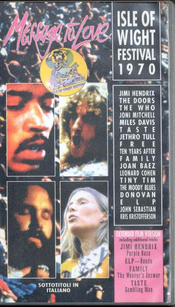 Doors Message To Love(Isle Of Wight 1970)(Italian 1995 Vhs Video Full Ps) VIDEO:PAL(EUR)