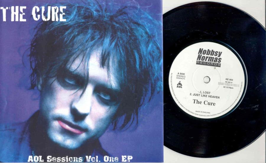 Cure Aol Sessions Vol. One Ep(Ltd 300 Copies Live 3-Trk 7''Ep Full Ps) 45:PICSLEEVE