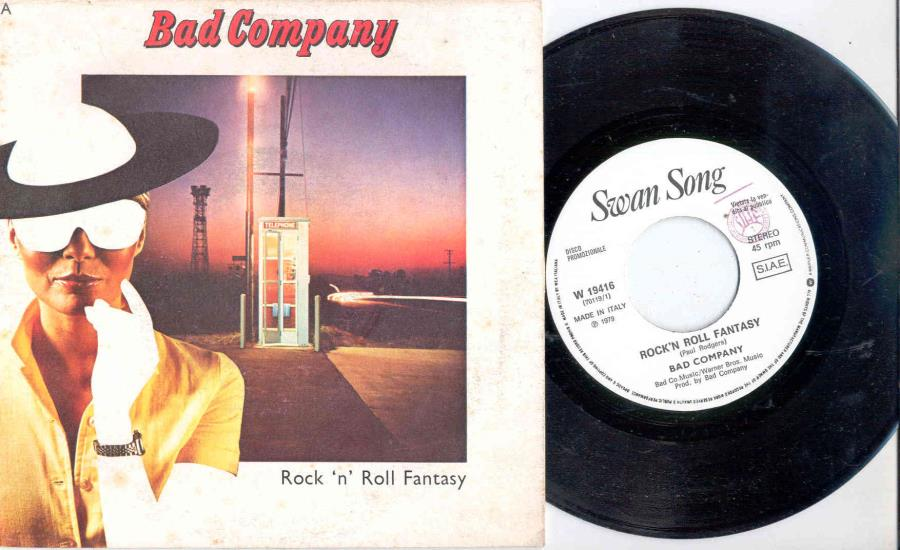 Bad Company Rock 'N' Roll Fantasy(Italian 1979 W/Label 2-Trk 7'' Promo Full Ps) 45:PICSLEEVE