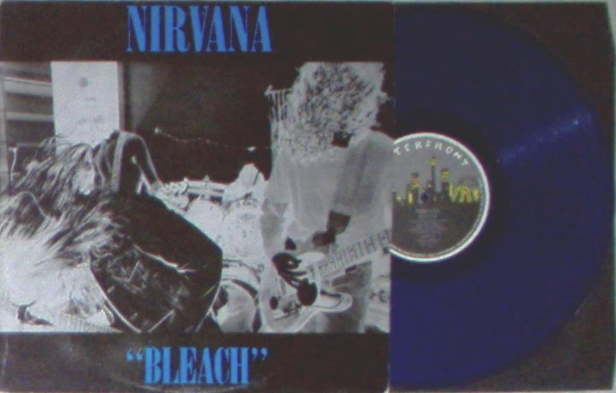 Nirvana Bleach(Australian 1989 Ltd 11-Trk Lp Blu Vinyl On Waterfront Lbl Unique Blu Titl LP