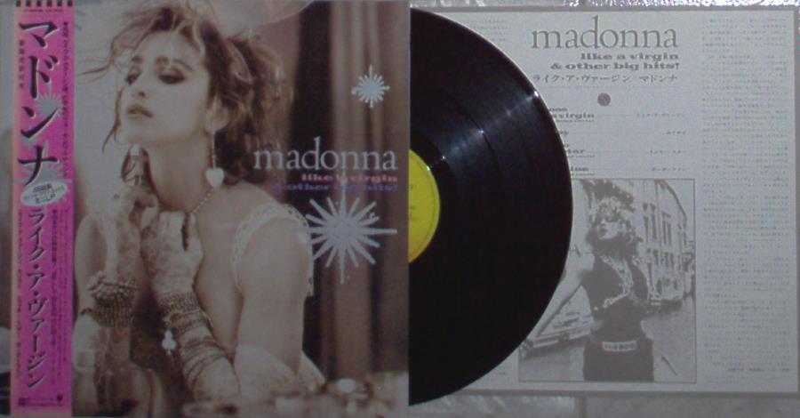 Madonna Like A Virgin And Other Big Hits(Japan 1984 Ltd 4-Trk 12''Ep Unique Ps+Obi+Insert 12''