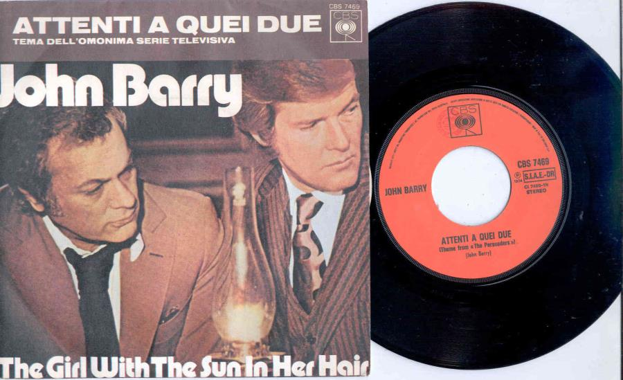 Barry,John Attenti A Quei Due(Italian 1974 'Tv Series' 2-Trk 7'' Single Full Ps) 45:PICSLEEVE