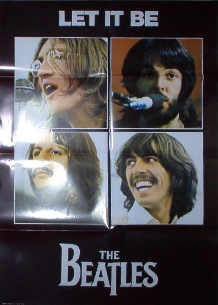 Beatles Let It Be(Uk 2003 Official 'Apple Corps' Full Large Promo Poster) POSTER