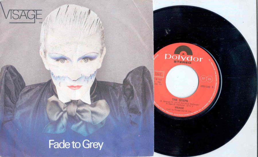 Visage Fade To Grey(Italian 1980 2-Trk 7'' Single Full Ps) 45:PICSLEEVE