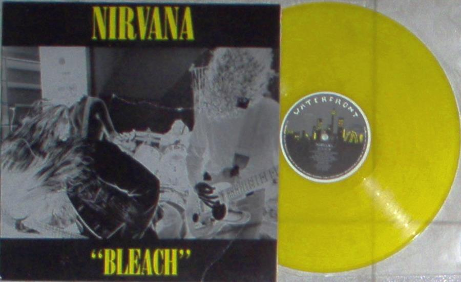 Nirvana Bleach(Australian 1989 Ltd 11-Trk Lp Yellow Vinyl Unique Yellow Ps) LP