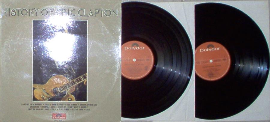 Clapton,Eric History+Of+Eric+Clapton(Italian+1972+16-Trk+2lp+Set+Laminated+Gatefold+Ps) LP