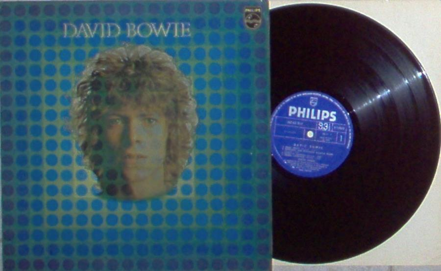 David Bowie David Bowie(Italian 1970 Original 9-Trk Lp On Blu Philips Lbl Gf Ps) LP