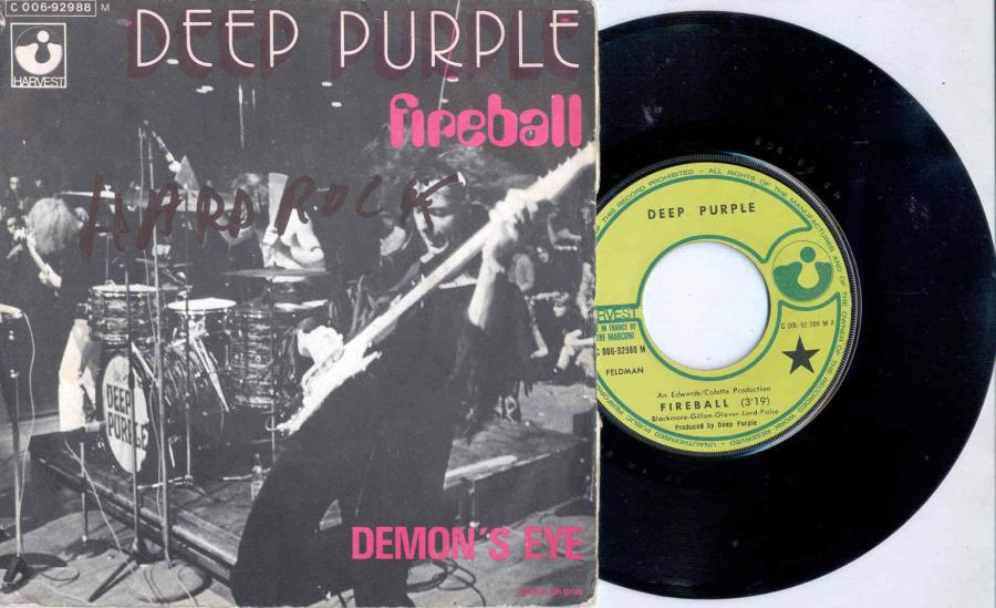 Deep Purple Fireball(French+1971+2-Trk+7''+Single+Unique+Ps) 45:PICSLEEVE