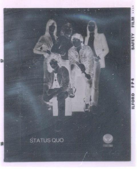 images of Status quo #2(uk 80s vertigo official promo slide) VERTIGO