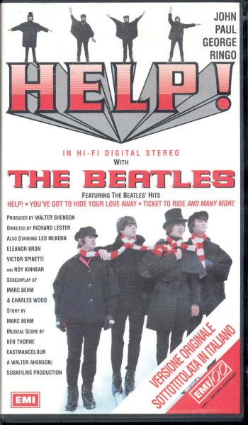 Beatles Help!(Italian 1997 Vhs Film Unique Ps) VIDEO:PAL(EUR)