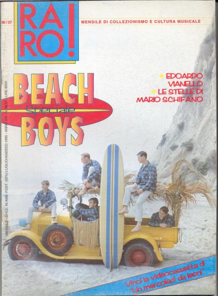 Beach Boys Raro!(N.56/57 July/Aug. 1995)(Italian 1995 Beach Boys Front Cover Magazine) MEMORABILI