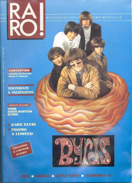 Byrds Raro!(N.13 Jan-Feb. 1991)(Italian 1991 Byrds Front Cover Magazine) MEMORABILI