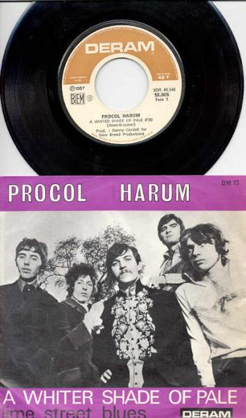 Procol Harum Whiter+Shade+Of+Pale(French+1967+Original+7''+Unique+Ps) 45:PICSLEEVE