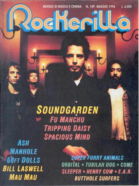 Soundgarden Rockerilla(N.189 May 1996)(Italian 1996 Soundgarden Front Cover
