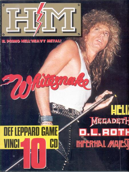 Whitesnake H/M(Year Iii N.37 March 1988)(Italian 1987 Whitesnake Front Cover