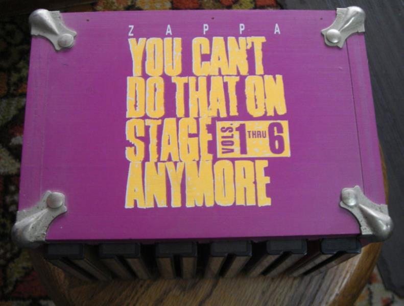 Frank Zappa You+Can't+Do+That+On+Stage+Anymore+Vol.1-6(Usa+1992+Ltd+12cd+Deluxe+Wodden+Box+S CD