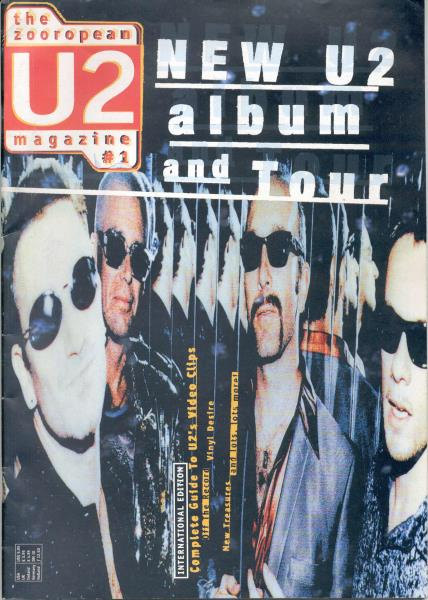 U2 Zooropean U2 Magazine #1(Holland 1997 Full U2 30 Pag. Fan Magazine) MEMORABILI