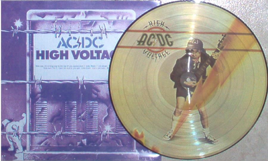 Ac/Dc High+Voltage(Japan+Ltd+Promo-Only+9-Trk+Lp+Picture+Disc+Japan+Discography+Insert LP