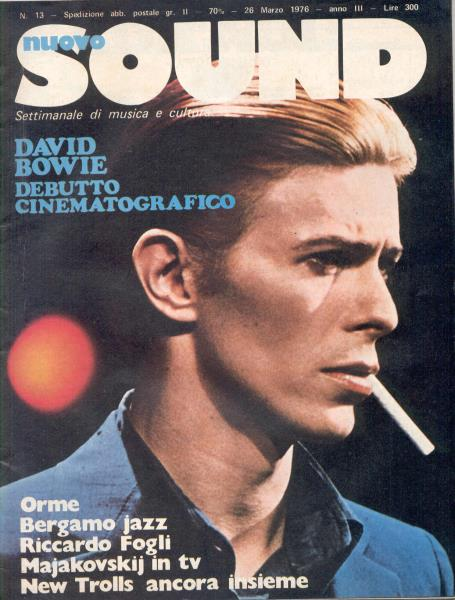 Bowie,David Nuovo Sound(26 March 1976)(Italian 1976 Front Cover Magazine) MEMORABILI