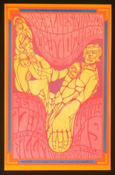 Mothers Of Invention Fillmore Auditorium(San Francisco Ca 2/17-19/1967(Usa 1967 Original Concert Post POSTER